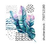 abstract summer background. art ... | Shutterstock . vector #750712180