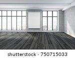 modern unfurnished room... | Shutterstock . vector #750715033
