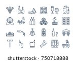 set of colored 24 linear... | Shutterstock . vector #750718888