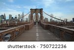 brooklyn bridge panorama | Shutterstock . vector #750722236