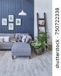 modern interior living room... | Shutterstock . vector #750722338