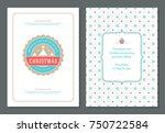 christmas greeting card design... | Shutterstock .eps vector #750722584