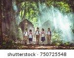 asia student children and...   Shutterstock . vector #750725548