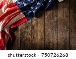 close up of usa flag in grunge... | Shutterstock . vector #750726268