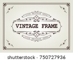 vintage frame with beautiful... | Shutterstock .eps vector #750727936