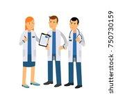 cartoon characters of three... | Shutterstock .eps vector #750730159