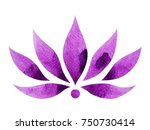violet crown color of chakra... | Shutterstock . vector #750730414