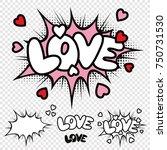 vector love comic illustration... | Shutterstock .eps vector #750731530