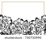 vintage delicate invitation... | Shutterstock . vector #750733990