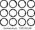 vector frames. circle for image.... | Shutterstock .eps vector #750735148