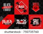 black friday sale square... | Shutterstock .eps vector #750735760