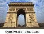 arc de triomphe   arch of...   Shutterstock . vector #75073636