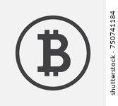 bitcoin icon  vector sign ... | Shutterstock .eps vector #750741184