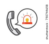 emergency call icon | Shutterstock .eps vector #750744658