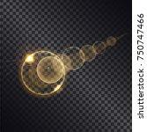 golden light effects of circles ... | Shutterstock .eps vector #750747466