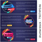 discount and new offer proposed ... | Shutterstock .eps vector #750749146