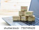 personal portfolio and online... | Shutterstock . vector #750749620