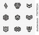 modern abstract design vector... | Shutterstock .eps vector #750750214