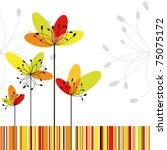 springtime greeting card... | Shutterstock .eps vector #75075172