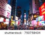 new york city  united states  ... | Shutterstock . vector #750758434