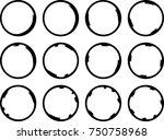 vector frames. circle for image.... | Shutterstock .eps vector #750758968