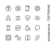 interface icon set. collection...