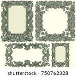 victorian baroque floral... | Shutterstock .eps vector #750762328