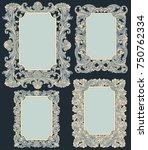victorian baroque floral...   Shutterstock .eps vector #750762334