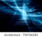 abstract blue toned background... | Shutterstock . vector #750766183