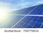 solar panels  alternative... | Shutterstock . vector #750770014