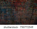 color grunge wall background.... | Shutterstock . vector #750772549