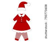 romper suit. christmas costume...   Shutterstock . vector #750773608