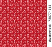 seamless vector pattern with... | Shutterstock .eps vector #750774568