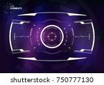 sci fi screen design template ...