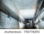 lift machinist repairing... | Shutterstock . vector #750778393