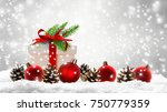 xmas decoration  christmas gift ... | Shutterstock . vector #750779359