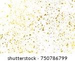 golden foil particles over... | Shutterstock .eps vector #750786799