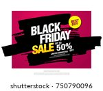 black friday sale banner layout ... | Shutterstock .eps vector #750790096