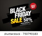 black friday sale banner layout ... | Shutterstock .eps vector #750790183