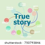 true story. business data... | Shutterstock . vector #750793846