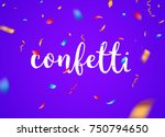 confetti background vector... | Shutterstock .eps vector #750794650