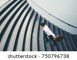 businessman running fast... | Shutterstock . vector #750796738