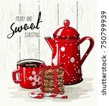 christmas theme  christmas... | Shutterstock .eps vector #750799939