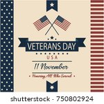veterans day card or background.... | Shutterstock .eps vector #750802924