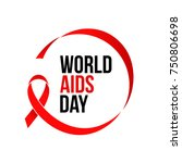world aids day red ribbon icon... | Shutterstock .eps vector #750806698