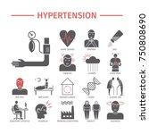 hypertension. symptoms ... | Shutterstock . vector #750808690