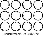 vector frames. circle for image.... | Shutterstock .eps vector #750809620