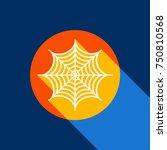 Spider On Web Illustration....