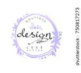 fashion logo design  badge for... | Shutterstock .eps vector #750817273