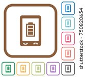 mobile battery status simple... | Shutterstock .eps vector #750820654